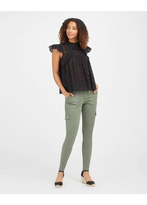 Spanx Spanx Stretch Twill Ankle Cargo Pant in Soft Sage