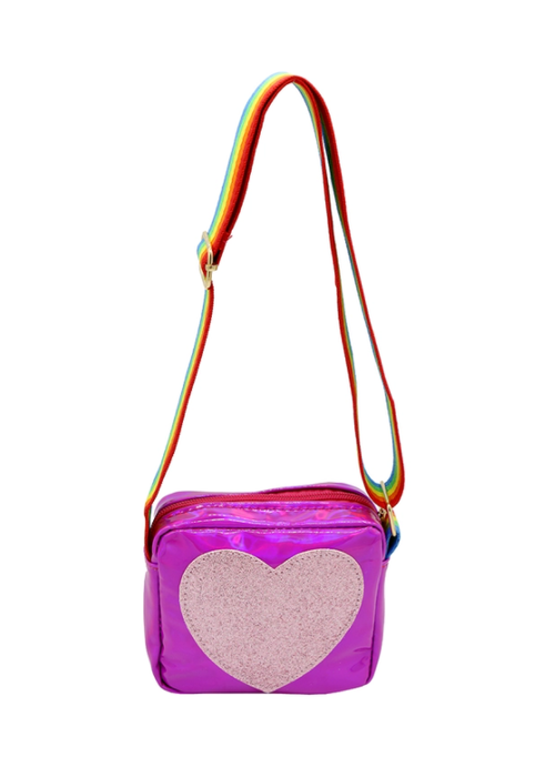 Sparkle Sisters Heart Purse - Dark Pink