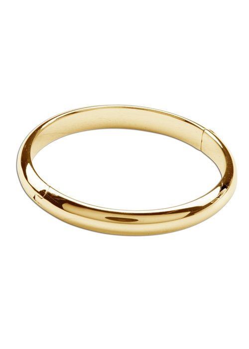 Cherished Moments Cherished Moments Classic Bangle 14K Gold Plated Bracelet SM