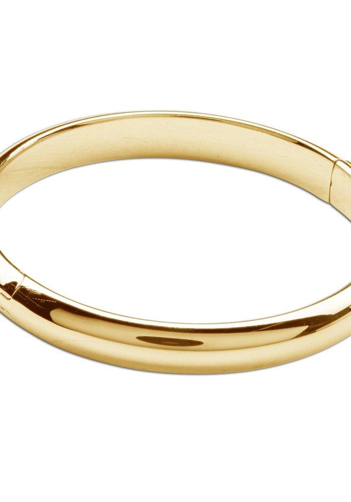 Cherished Moments Classic Bangle 14K Gold Plated Bracelet MED