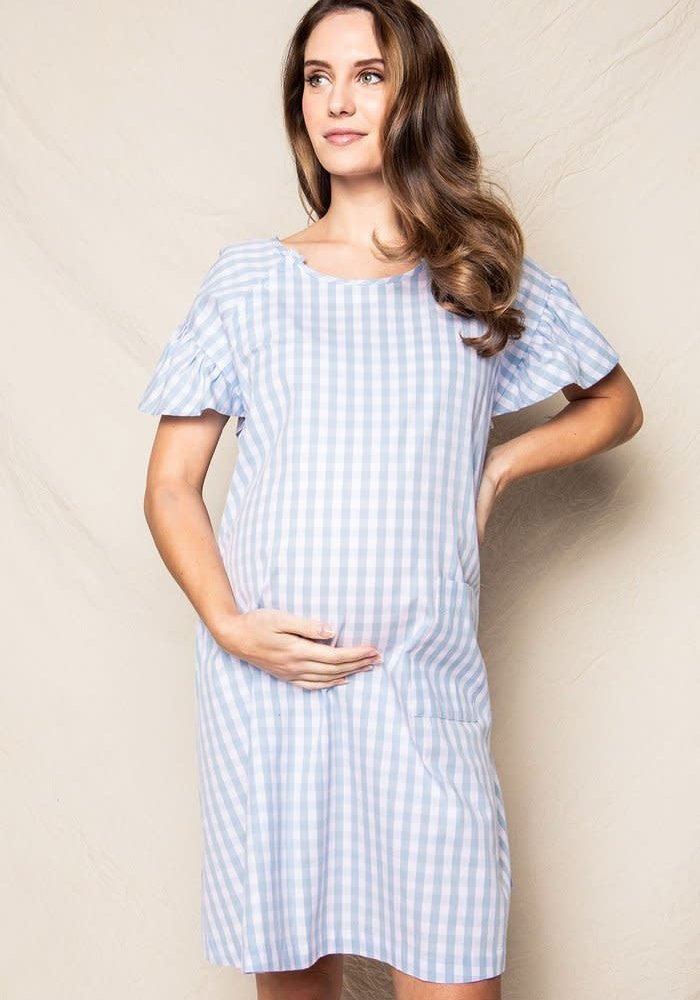 Gingham Hospital Gown - 2 Colors