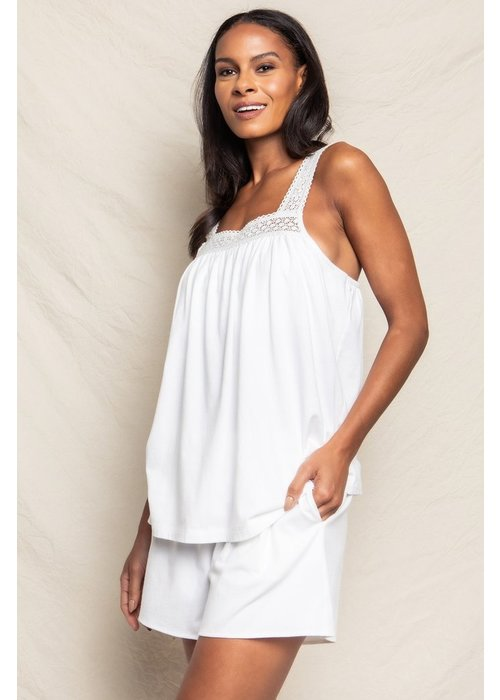 Petite Plume Camille Short Set Luxe Pima Cotton White
