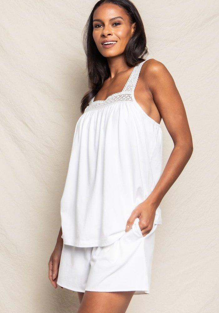 Camille Short Set Luxe Pima Cotton White