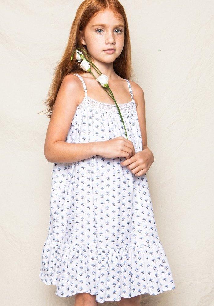 Fleurette Lily Nightgown White/Blue