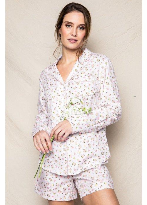 Petite Plume Women's La Rosette Long Sleeve Short Set