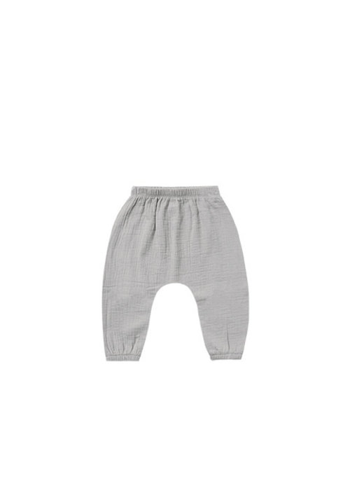 Quincy Mae QM Woven Harlem Pant in Periwinkle