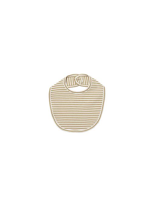 Quincy Mae QM Gold Stripe Snap Bib One Size
