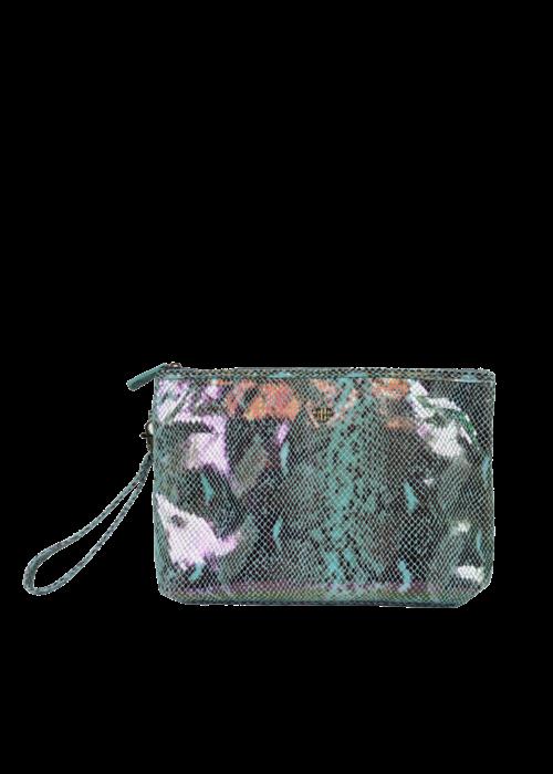purse n PurseN Getaway Litt Makeup Case - Turquoise Python