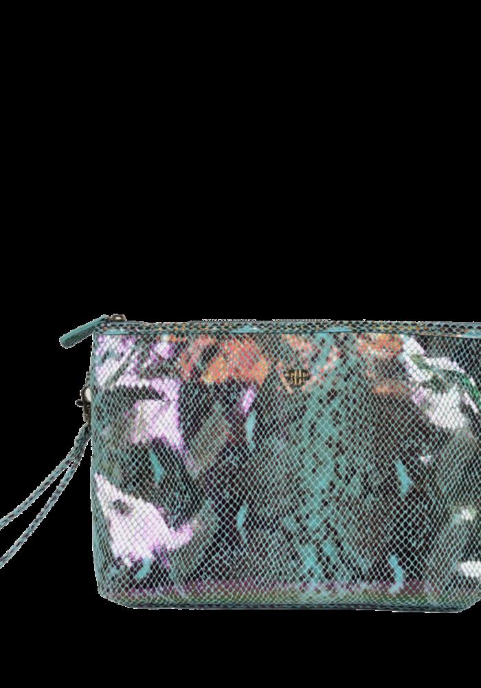 PurseN Getaway Litt Makeup Case - Turquoise Python