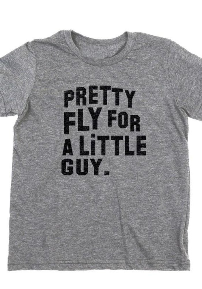 Pretty Fly for a Little Guy Tee - Grey