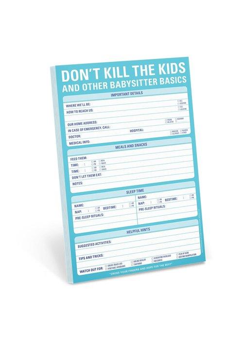 Knock Knock Pad: Don't Kill the Kids