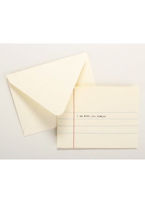 Hand Sewn Notecard I am with you Always