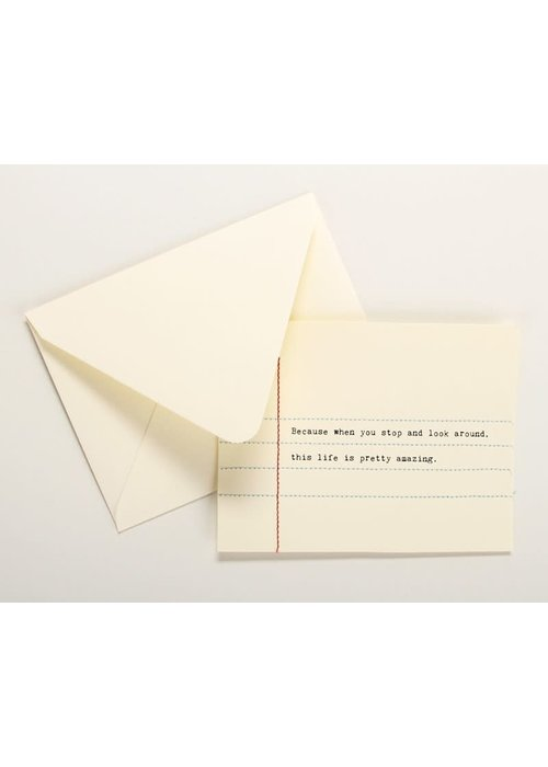 Hand Sewn Notecard This life is...