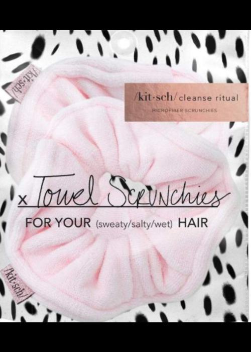 Kit Sch Kitsch Microfiber Towel Scrunchies - Blush