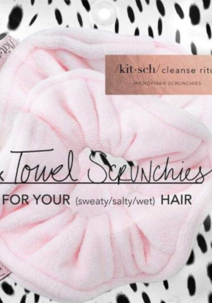 Kitsch Microfiber Towel Scrunchies - Blush