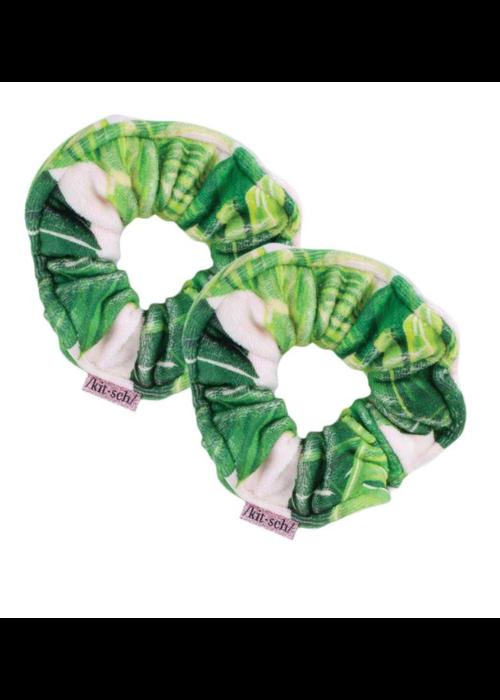Kit Sch Kitsch Microfiber Towel Scrunchies - Palm Print
