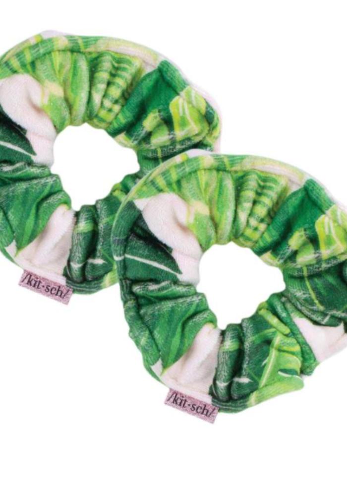 Kitsch Microfiber Towel Scrunchies - Palm Print