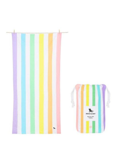 Dock & Bay D&B Quick Dry Towel/Summer/Multistriped/LG Unicorn Waves