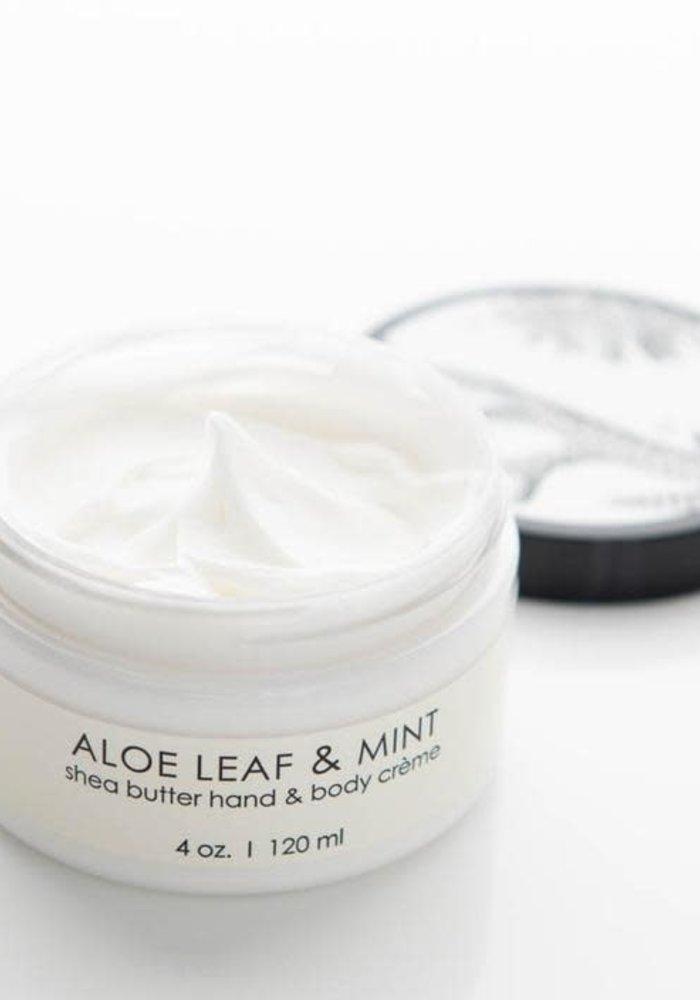 Aloe Leaf & Mint Shea Butter Hand Creme
