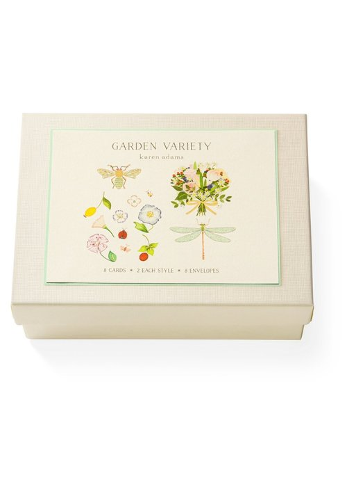 Karen Adams KA Gift Box Note Cards - Garden Variety