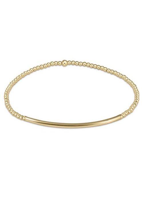 E Newton EG Bliss Bar Classic Gold 2mm Bracelet