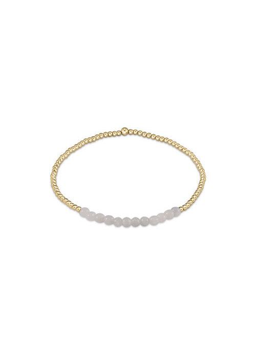 E Newton EN Gold Bliss 2mm Bead Bracelet - Moonstone