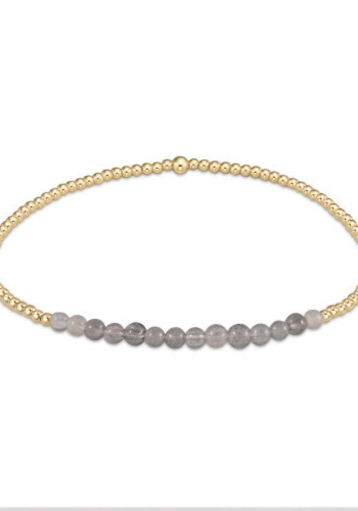 EN Gold Bliss 2mm Bead Bracelet - Labradorite
