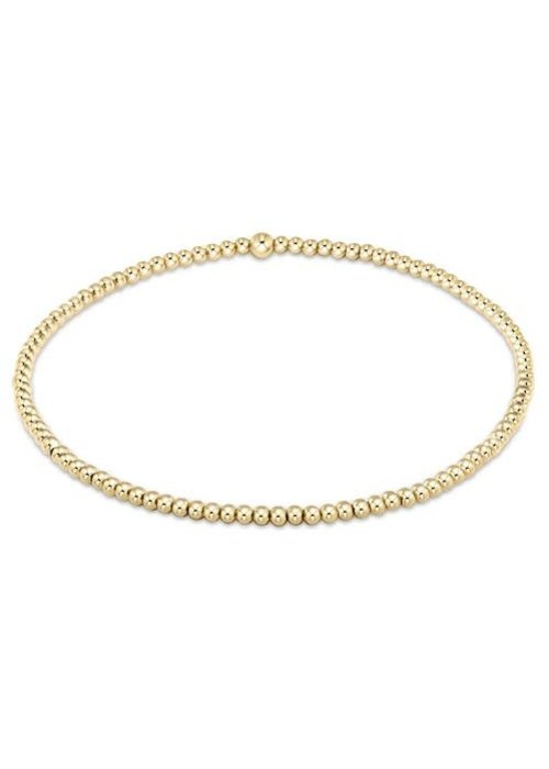 E Newton EG Classic Gold 2mm Bead Bracelet