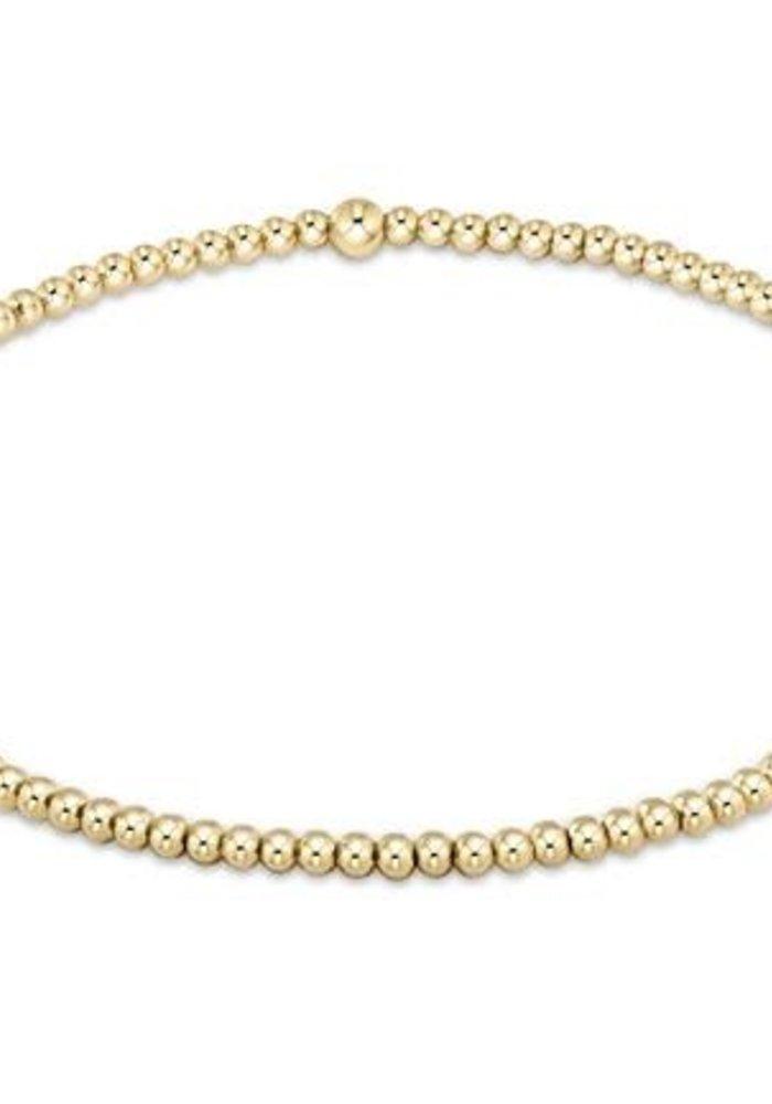 EG Classic Gold 2mm Bead Bracelet