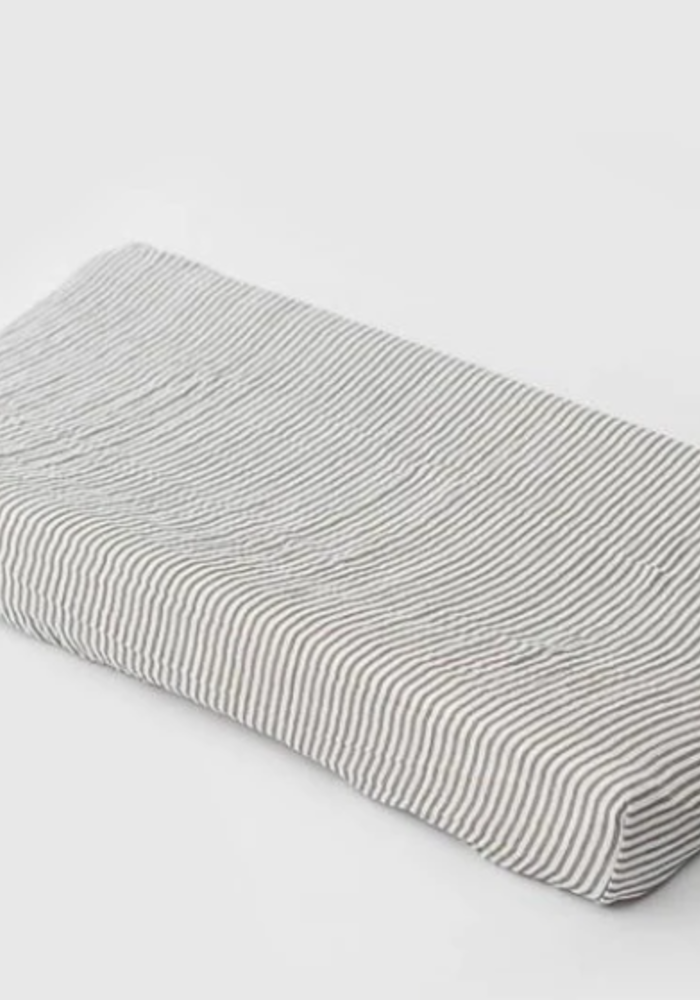 Little Unicorn Gray Stripe Changing Pad Cover