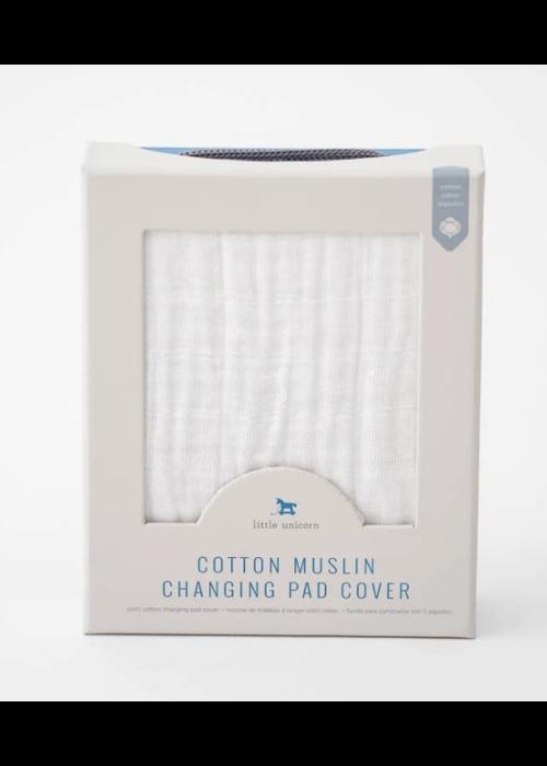 Little Unicorn Little Unicorn White Changing Pad Cover
