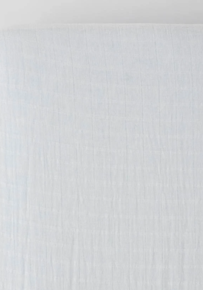 Little Unicorn White Muslin Crib Sheet