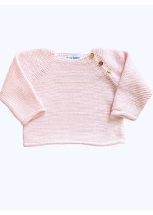 mi lucero Pink Sweater & Footie Set