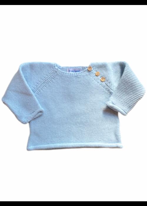 mi lucero Blue Sweater & Footie Set