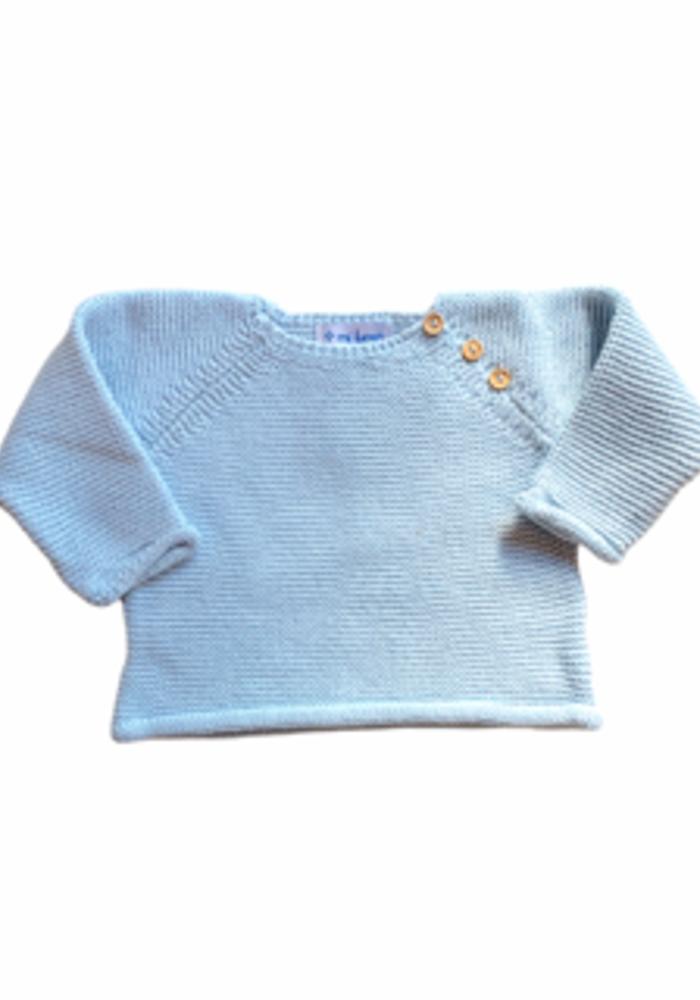 Blue Sweater & Footie Set