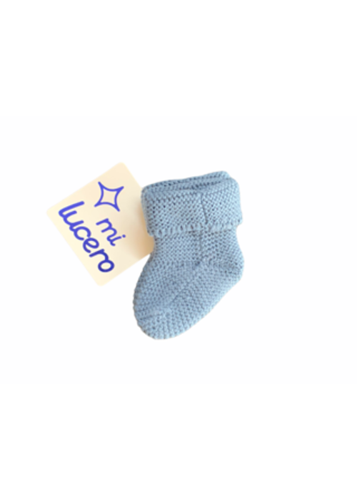 mi lucero Blue Knit Booties