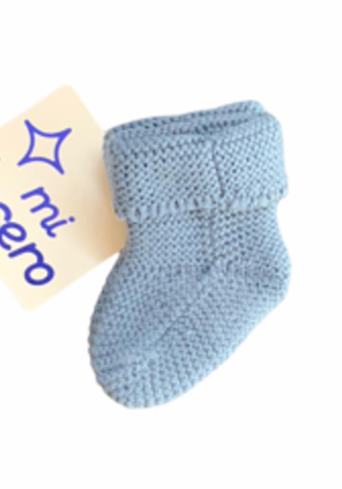 Blue Knit Booties