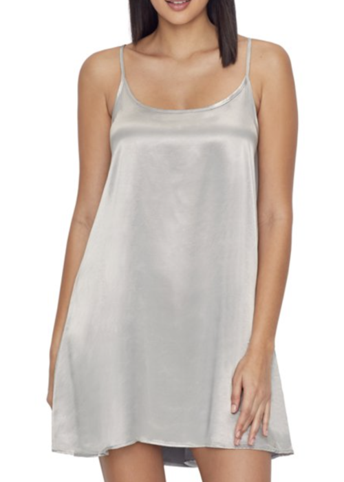 PJ Harlow PJH Allie Satin Nightgown - Dark Silver