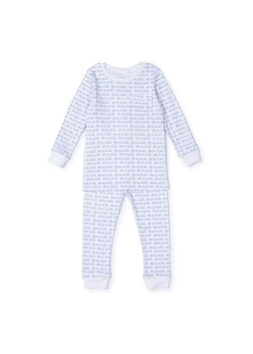 Lila and Hayes Lila and Hayes Bradford Pajamas - Choo Choo Blue