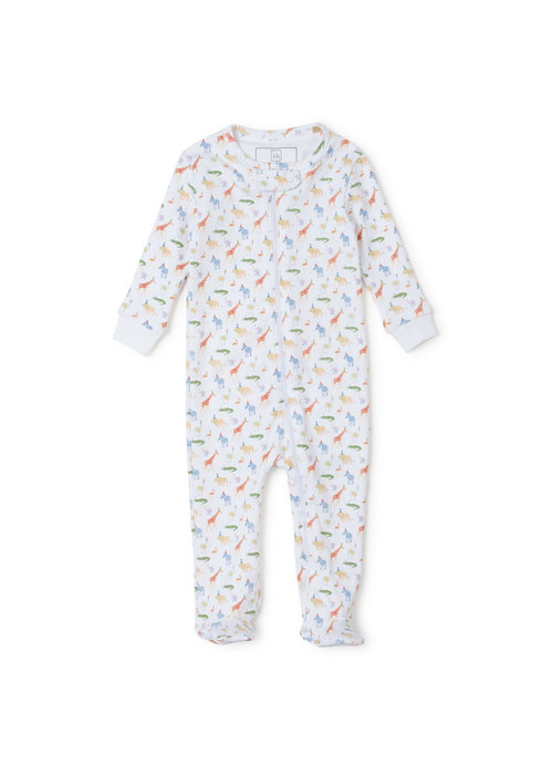 Lila and Hayes Lila and Hayes Parker Zipper Pajamas - Party Animals