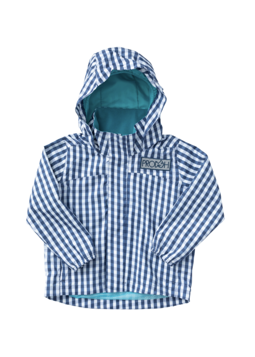 Prodoh Prodoh Boys Water/Wind Reflective Jacket Blueberry Gingham