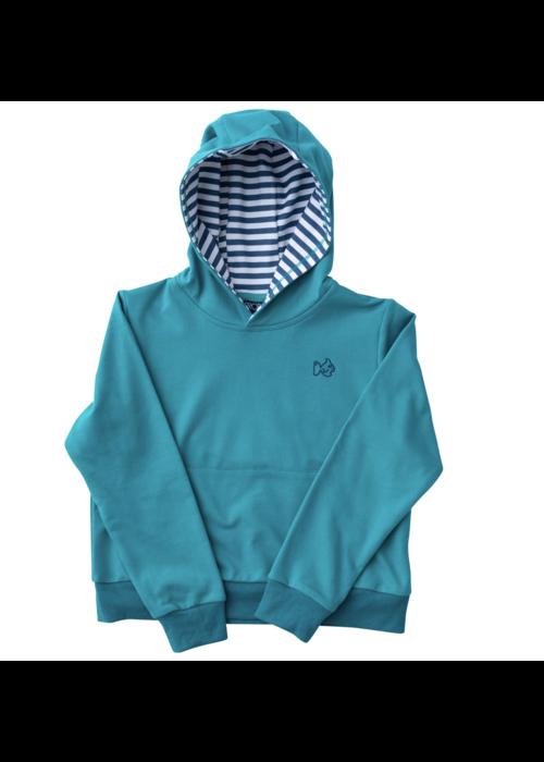 Prodoh Prodoh Boys Hoodie Sweatshirt in Lake Blue