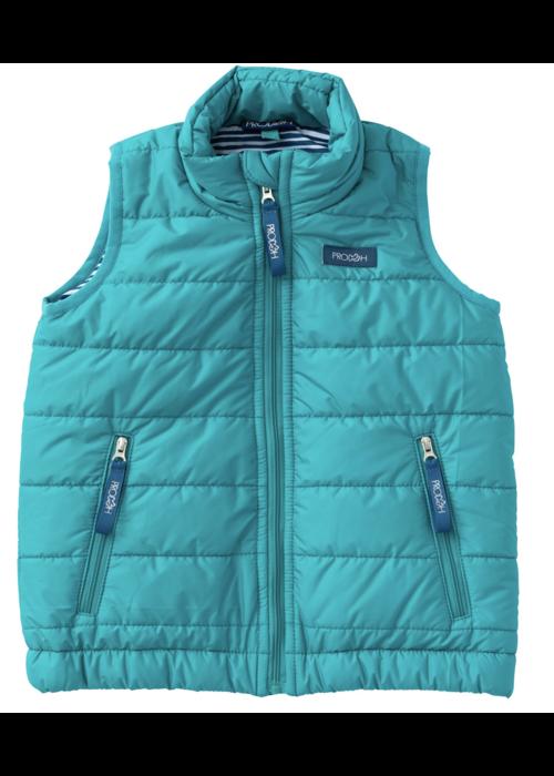Prodoh Prodoh Boys Puffer Vest in Lake Blue