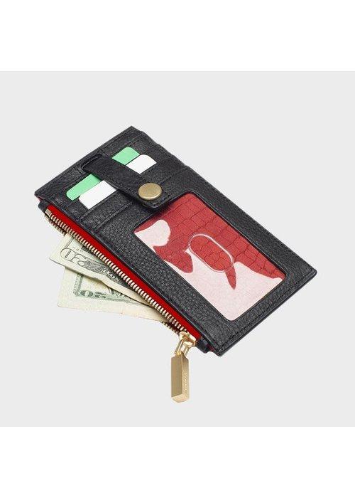 Hammitt Hammitt 210 West Wallet Black with Red