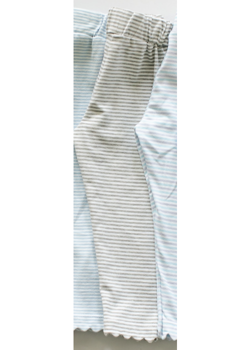 Peggy Green Peggy Green Scallop Legging - Grey Stripe