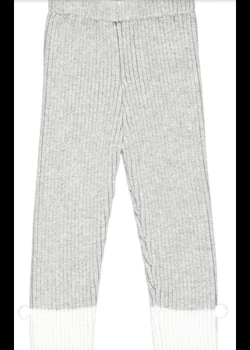 Vignette Vignette Rowan Knit Leggings in Grey  w/white pom cuff