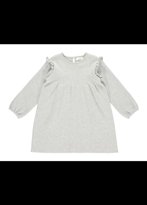 Vignette Vignette Mia Knit Dress w/Ruffle Detail in Grey