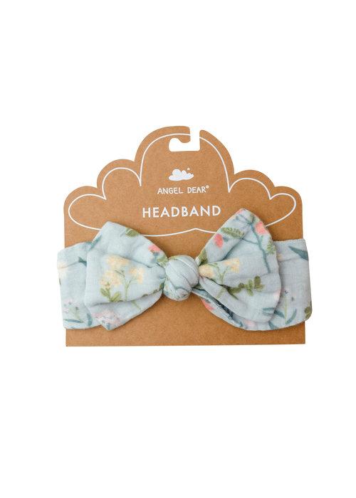 Angel Dear Angel Dear Meadow Floral Headband in Blue