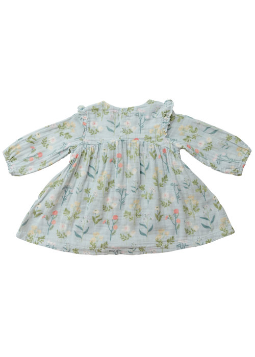 Angel Dear Angel Dear Meadow Floral Ruffle Dress & Legging Blue