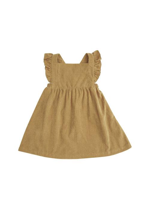Angel Dear Honey Corduroy Pinafore Dress  - Yellow